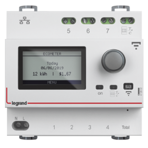 The smart ecometer displays detailed monitoring of energy consumption