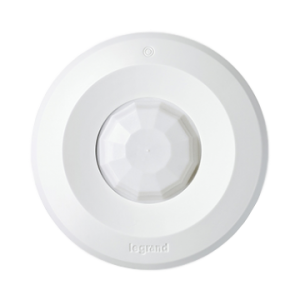 View of wireless ceiling mount PIR occupancy sensor