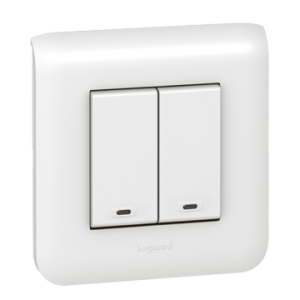 View of a 2 buttons switch
