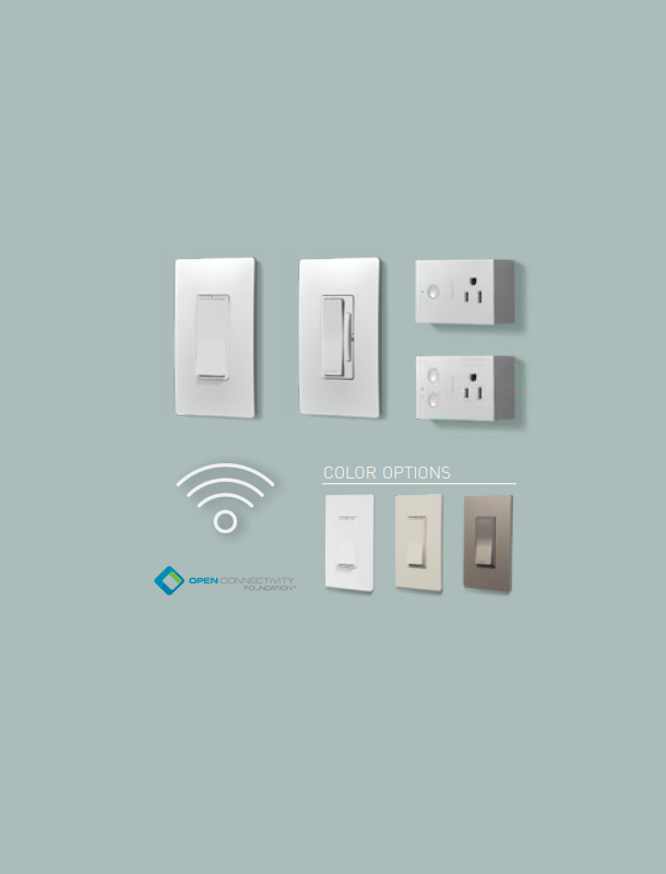 View of the different switchs, dimmers and plugs offers