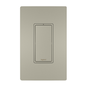 View of a Smart switch Wi-Fi in nickel